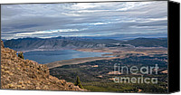 Alpine Canvas Prints - Panoramic of Henrys Lake Canvas Print by Robert Bales