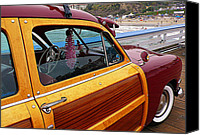 San Clemente Canvas Prints - Parked on the Pier Canvas Print by Ron Regalado