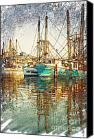 Joan Mccool Canvas Prints - Pass Christian Harbor Sketch Canvas Print by Joan McCool