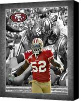 Sports Photo Special Promotions - Patrick Willis 49ers Canvas Print by Joe Hamilton