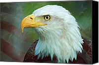 Wildlife Art Special Promotions - Patriot Canvas Print by Heidi Smith