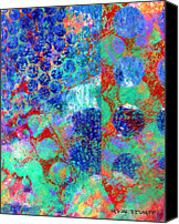 Color Mixed Media Canvas Prints - Phase series - Movement Canvas Print by Moon Stumpp