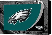 Ball Canvas Prints - Philadelphia Eagles Canvas Print by Joe Hamilton