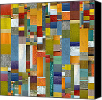 Block Canvas Prints - Pieces Parts Vl Canvas Print by Michelle Calkins