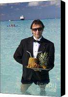 Cruise Photo Canvas Prints - Pina Colada Anyone Canvas Print by David Smith
