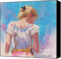 Updo Canvas Prints - Pino Study Canvas Print by Laura Lee Zanghetti