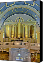Star Canvas Prints - Pipe Organ At Saint Michaels Canvas Print by Susan Candelario