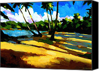Dominican Canvas Prints - Playa Bonita 2 Canvas Print by Douglas Simonson