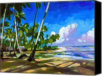 Dominican Canvas Prints - Playa Bonita Canvas Print by Douglas Simonson