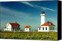 Point Wilson Lighthouse Canvas Prints - Point Wilson lighthous Canvas Print by Tom Higgins