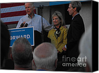 Joe Biden Canvas Prints - Politicians Sept 21 2012 Canvas Print by Lisa Gifford