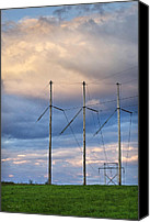 Power Lines Canvas Prints - Power Hour Canvas Print by Christina Rollo