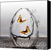 Surrealism  Canvas Prints - Precious Canvas Print by Photodream Art
