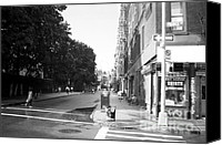 John Rizzuto Canvas Prints - Prince St 1990s Canvas Print by John Rizzuto