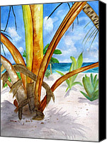 Carlin Blahnik Painting Canvas Prints - Punta Cana Canvas Print by Carlin Blahnik