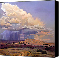Albuquerque Canvas Prints - Purple Rain Canvas Print by Art West