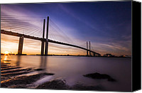 Bridge Crossing River Photo Canvas Prints - Queen Elizabeth II Bridge Canvas Print by Ian Hufton