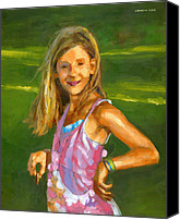 Innocence Canvas Prints - Rachel with Cookie Canvas Print by Douglas Simonson