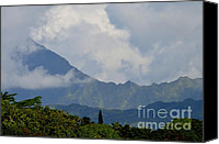 Mary Deal Canvas Prints - Rain Clouds Over the Makelehas Canvas Print by Mary Deal