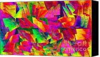 Colorfull Canvas Prints - Rainbow Bliss 2 - Twisted - Painterly H Canvas Print by Andee Photography