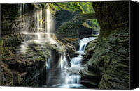 Western Special Promotions - Rainbow Falls Canvas Print by Bill  Wakeley