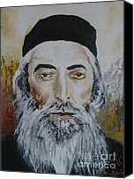 Rav Canvas Prints - Rav Yaaov Yosef Herman Canvas Print by Miriam Shaw