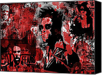 Celebrity Special Promotions - Red Fight Club Canvas Print by Movie Prints