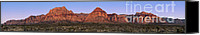 Joshua Canvas Prints - Red Rock Canyon pano Canvas Print by Jane Rix