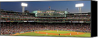 Sport Photography Canvas Prints - Red Sox and Fenway Park  Canvas Print by Juergen Roth