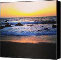 Beach Canvas Prints - Reflection Canvas Print by CML Brown