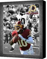 Redskins Canvas Prints - Robert Griffin Rgiii Redskins Canvas Print by Joe Hamilton