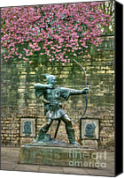 David Birchall Canvas Prints - Robin Hood Statue Canvas Print by David Birchall