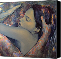 Embrace Canvas Prints - Romance with a Chimera Canvas Print by Dorina  Costras