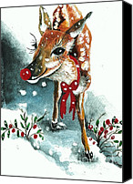 Rudolph Canvas Prints - Rudolf Canvas Print by Joy DiNardo Bradley         DiNardo Designs                     