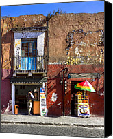 Mark Tisdale Canvas Prints - Rustic Dining in Puebla Mexico Canvas Print by Mark E Tisdale