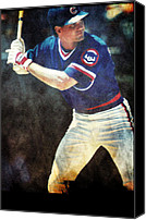 Phillies Art Mixed Media Canvas Prints - Ryno Canvas Print by Michael Knight