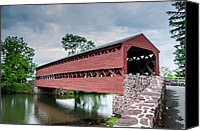 Guy Whiteley Canvas Prints - Sachs Covered Bridge 2888 Canvas Print by Guy Whiteley