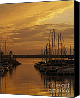 Boat Special Promotions - Sailboats at Sunset Canvas Print by Jane Eleanor Nicholas