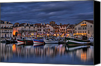 Jean Canvas Prints - Saint Jean De Luz Canvas Print by Karim SAARI