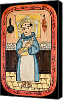 Saint Of Cooks Canvas Prints - San Pascual Canvas Print by Ellen Chavez de Leitner