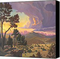 Albuquerque Canvas Prints - Santa Fe Baldy - Detail Canvas Print by Art West