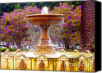 Jerome Stumphauzer Canvas Prints - Sausalito California Fountain Canvas Print by Jerome Stumphauzer