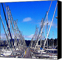 Jerome Stumphauzer Canvas Prints - Sausalito Sailboats Canvas Print by Jerome Stumphauzer