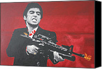 Abraham Canvas Prints - Say Hello To My Little Friend 2013 Canvas Print by Luis Ludzska