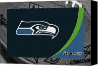 Ball Canvas Prints - Seattle Seahawks Canvas Print by Joe Hamilton