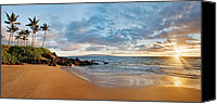 Seafoam Canvas Prints - Secret Beach Panorama Canvas Print by Monica and Michael Sweet - Printscapes