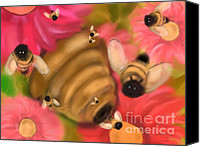 Fournier Canvas Prints - Secret life of bees Canvas Print by Christine Fournier