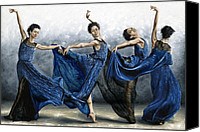 Long Hair Canvas Prints - Sequential Dancer Canvas Print by Richard Young