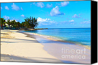 Grand Cayman Canvas Prints - Seven Mile Beach Canvas Print by Carey Chen