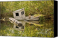 Wetlands Canvas Prints - Shipwreck Silver Springs Florida Canvas Print by Christine Till
